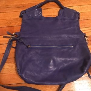 Foley and corrina large electric blue bag leather